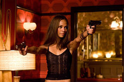 Zoe Saldana in a  real loser of a flick