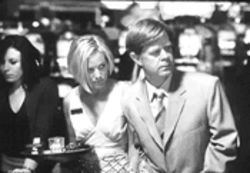 Unlucky at cards, etc.: Maria Bello and William H. Macy find love among the refuse in Las Vegas.
