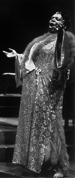 Bernardine Mitchell as The Lady From the Road in Blues in the Night at Dallas Theater Center