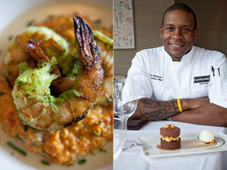 Bubba food gets fancied up with chef Tre Wilcox's shrimp and grits.