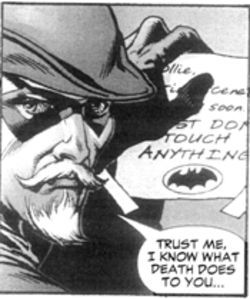 Green Arrow, in a panel from Identity Crisis