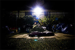 Is providing the homeless a place to sleep outdoors really a good deed?