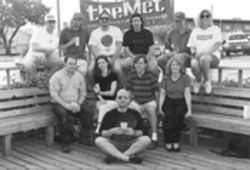 The crew, year two: row one: moi; row two, left to right: Joe Guinto, Marina Isola (now at Architectural Digest), Keven McAlester, Joy Dickinson; row three: Tim Rogers, Scott Kelton Jones, Chris Shull, Gregory Kallenberg, some dude, Kim Harwell.