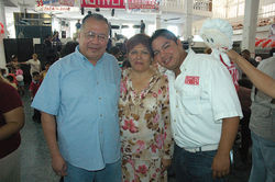Miguel Angel Lopez Velasco, aka Milo Vela, his wife, Agustina Solana, and son Miguel Angel Lopez Solana
