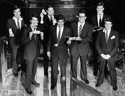 A young Mitt Romney, second from right, with his Bain Capital colleagues.