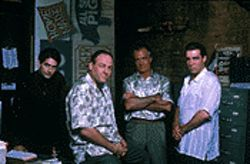 Tony Soprano (James Gandolfini, second from left) and the boys return Sunday.