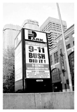 The attack on Bush is not subtle.