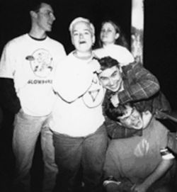 Toadies rhythm guitarist Tracey Sauerwein, third from left, died November 25 in her Dallas home.