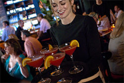 Cool cocktails, a lively atmosphere and wait staff who don't mind some banter—if only the food would keep pace.