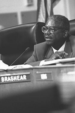 Dallas schools trustee Hollis Brashear fought to keep Edison out of DISD, only to incur Rojas' wrath.