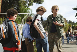 Owen Wilson seems miscast as Drillbit Taylor, the protector-in-chief for a pack of nerds.