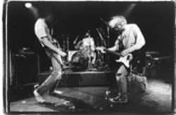 "Nirvana onstage in Rome on February 2, 1994, where the band performed, among other songs, Kajagoogoo's ""Too Shy."" No, really."