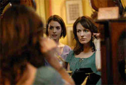 Anne Hathaway (left) as Kym and Rosemarie DeWitt as Rachel in Rachel Getting Married.