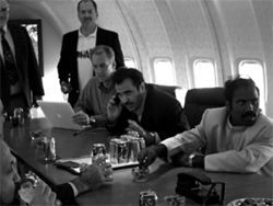 Kilari--far right--says his plane is like a private Air Force One.