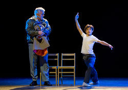 Gotta Dance: Rich Hebert as a coal-mining dad and Giuseppe Bausilio as his son in Billy Elliot the Musical at the Winspear.