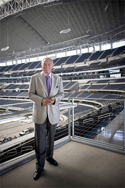 Jerry Jones feels that his new stadium is a respite that will help people cope with hard times. But at those ticket prices?