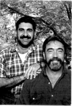 Paul Bear (left) and Tim Carmichael pose for a photo in 2002, the year before the Winnsboro News editorial that would change their lives.