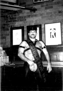 "Bear won the 1998 ""Mr. Australia Bear"" contest in Melbourne. The photo garnered a lot of attention--but also forced him to flee his past."