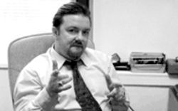 Ricky Gervais is not a self-important and hot-headed office manager, but he plays one on TV.