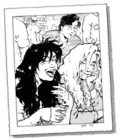 Francine, Katchoo and David are the pen-and-ink, flesh-and-blood stars of Terry Moore's Paradise.
