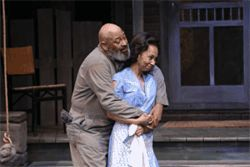 Wendell Wright and Wandachristine star in DTC's production of Fences.
