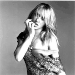 Liz Phair, pictured without the ridiculous hat she wore at her previous show at the Granada. Seriously, even a 1970s pimp wouldn't have tried to pull it off.