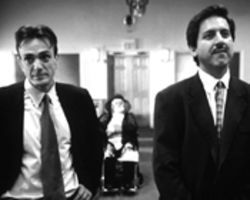 Brawl in the family: Hank Azaria and Ray Romano are brothers delivering their pop's Eulogy.