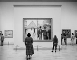 """Art Institute of Chicago II, Chicago"" (1990), one of Thomas Struth's ""museum photographs"" now on view at the DMA"