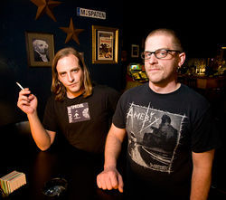 Everything went dark: Daron Beck (left) and Jon Teague.