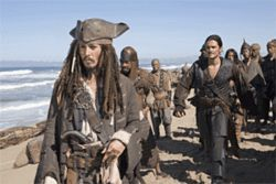 Over the course of the trilogy, Captain Jack Sparrow (Johnny Depp) has gone from subtly subversive to stuff and nonsense.