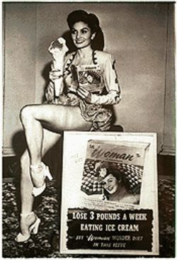 "Willetta as an advertising model at 23: ""That was before truth in advertising,"" she says."