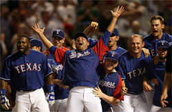 Just as the Rangers welcomed Josh Hamilton&#039;s walk-off homer against the Angels last week, local sports fans are enthusiastically embracing the Rangers&#039; brand of winning baseball.