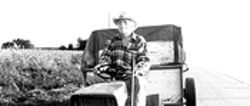 On a slow riding mower to Wisconsin: Alvin (Richard Farnsworth) is on the Straight and narrow.