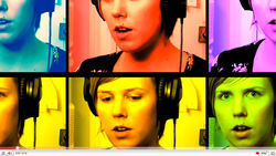 "The ""videosongs"" Pomplamoose post on YouTube are never lip-synched, and show Conte and Dawn playing every instrument used in a song- along with them eating cereal, making faces and flashing homemade signs."