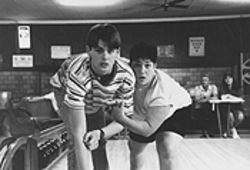 Let&#039;s go bowling: Eric (Chris Stafford, left) struggles with his sexuality and his game.