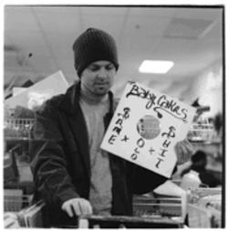 Josh Davis, a.k.a. DJ Shadow, digging through the crates at a thrift store. Don't be surprised if what he finds ends up on his next album.