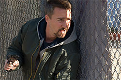 Edward Norton gets the obligatory role of the conflicted good cop in the derivative Pride and Glory.