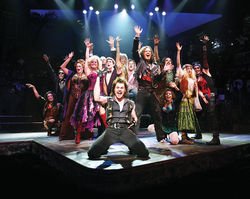 Cleft for me: Rock of Ages time-travels back with the thrash-band tunes of the 1980s at the Winspear.