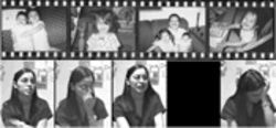 Top: Briana, Kamryn and their father, Angel Diaz, in family snapshots taken about two years before the girls died. Briana is the older girl. Bottom: Lisa Diaz breaks down while describing how she drowned her daughters. Her videotaped account was played for the jury in her capital murder trial.