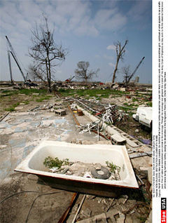 Katrina and the devastation of New Orleans are central to the debate on the Trinity River toll road.