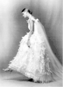 Pat Kerr's wedding dress
