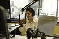 Radio Salaam Namaste's Neha Upadhyay sweetens the airwaves with hits from Bollywood movies.