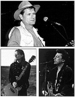 Brave old world (clockwise from top): Butch Hancock, Joe Ely, and Jimmie Dale Gilmore have reunited as The Flatlanders, and it feels so good.