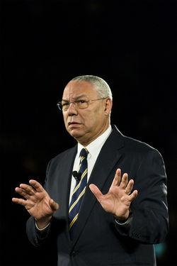 One of the speakers was former Secretary of State Colin Powell, who encouraged managers to remember the little guys&amp;#151;i.e. the employees&amp;#151;who keep their businesses flourishing.