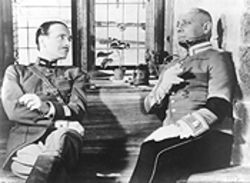Masters of war: Pierre Fresnay, left, and Erich von Stroheim consider the Grand Illusion -- the Jean Renoir film, not the Styx album.