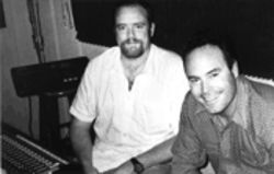 Head Bastard Mark Stuart, right, in the studio with John Carter Cash