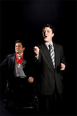 René Moreno and Cameron Cobb are Richard III and Buckingham in a Kitchen Dog production full of fiery speeches and modern gadgets.