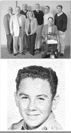 Top: Richard Ford, bottom right, and the board of Heritage Alliance; bottom: Ford at El Paso High School, where he was in ROTC and the choir