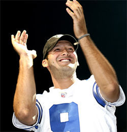Romo was brilliant in his first home opener, throwing for 345 yards, four touchdowns and scrambling for another.