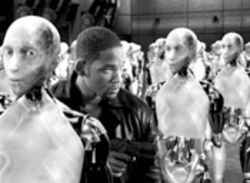 I, Robot. You, suck. Will Smith stars in this familiar hodgepodge of sci-fi film retreads.